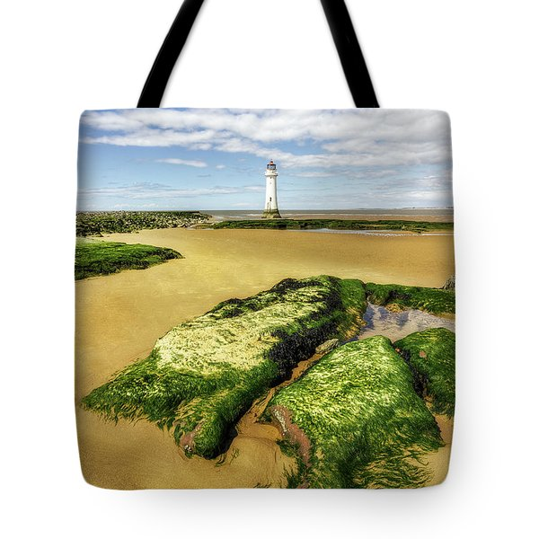 Tote Bag featuring the photograph Wirral Lighthouse by Ian Mitchell