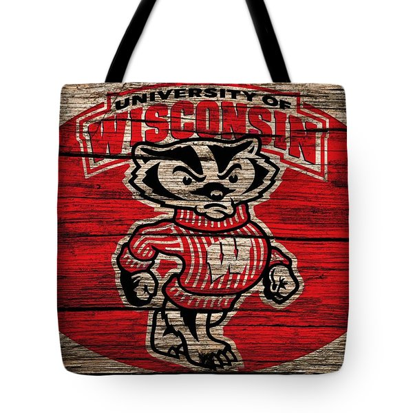 Wisconsin Badgers Barn Door Tote Bag