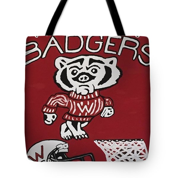Wisconsin Badgers Tote Bag