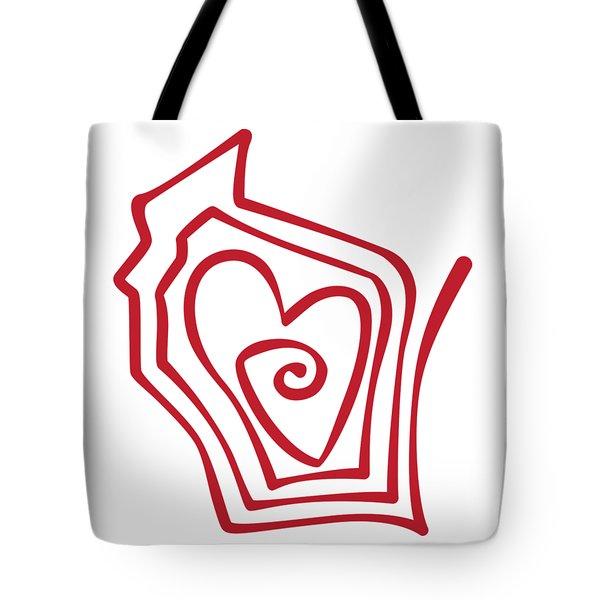 Wisconsin Drawn Tote Bag