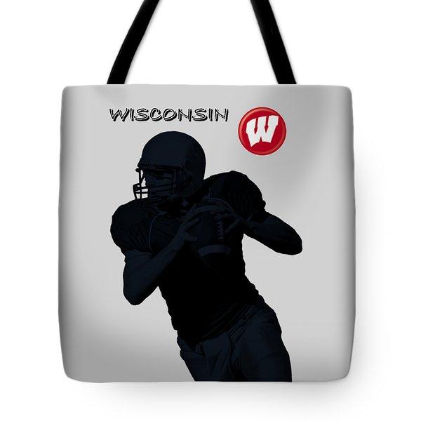 Wisconsin Football Tote Bag by David Dehner