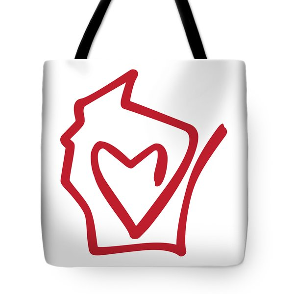 Wisconsin Love Tote Bag