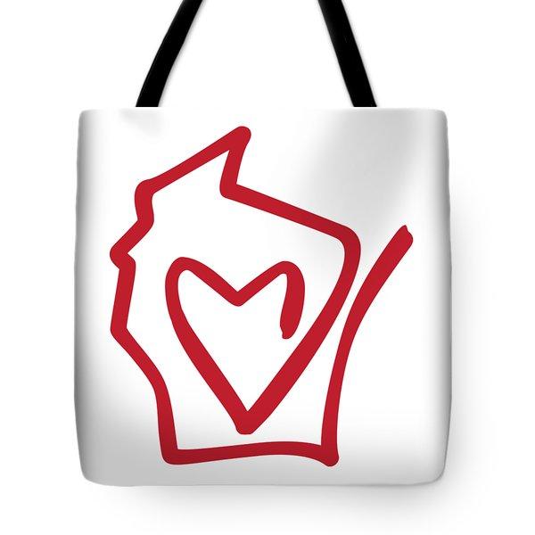 Wisconsin Love Tote Bag