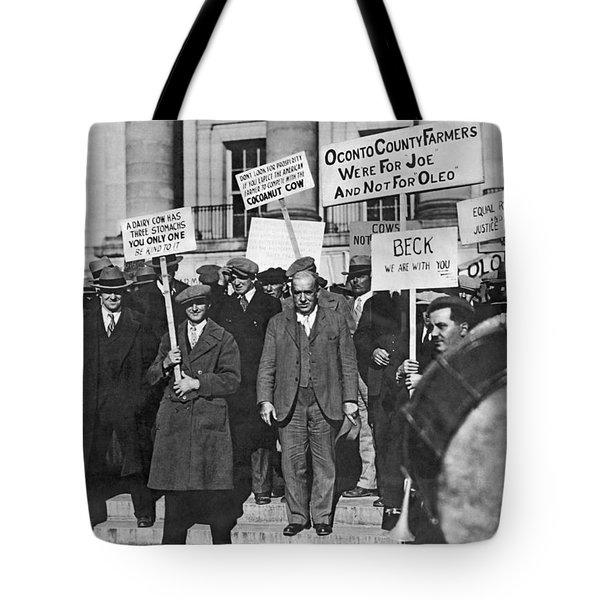 Wisconsin Oleo Protest Tote Bag