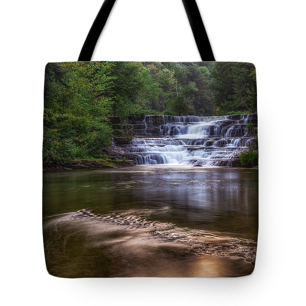 Tote Bag featuring the photograph Wiscoy Falls by Mark Papke
