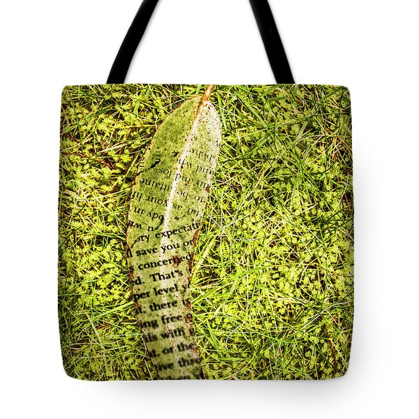 Wisdom In Nature Tote Bag