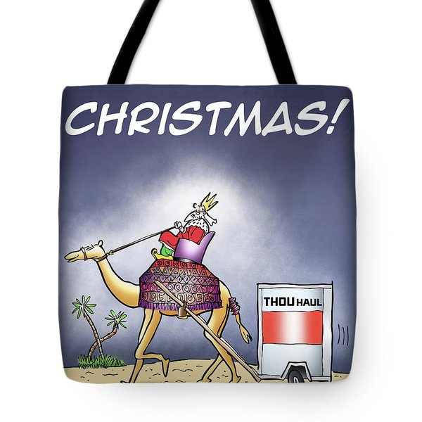Tote Bag featuring the digital art Wise Man Trailer by Mark Armstrong