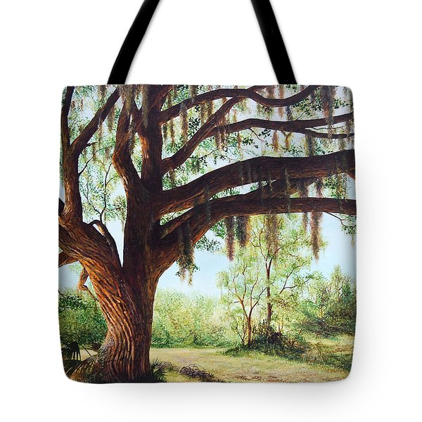 Tote Bag featuring the painting Wise Old Oak by AnnaJo Vahle