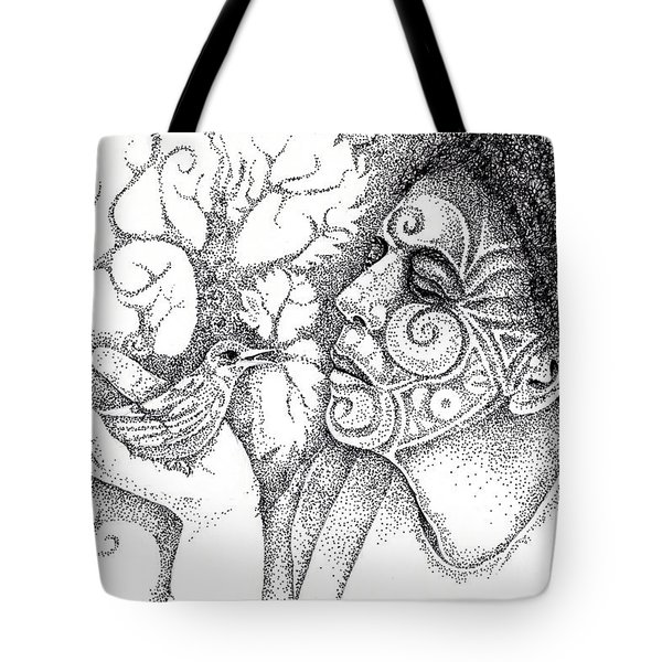 Wise Words-a Bird In The Hand Drawing Tote Bag