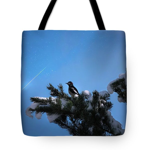 Wish Upon A Shooting Star Tote Bag by Rose-Marie Karlsen