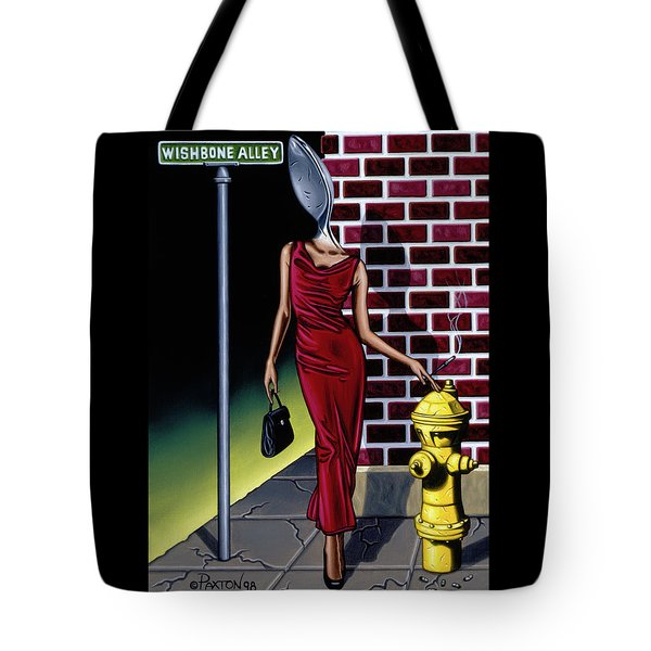 Wishbone Alley Tote Bag