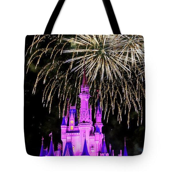 Wishes Fireworks Disney World  Tote Bag