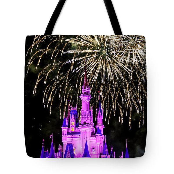 Wishes Fireworks Disney World  Tote Bag