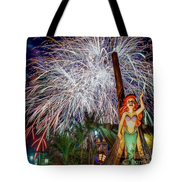 Wishes Over Prince Eric's Castle Tote Bag