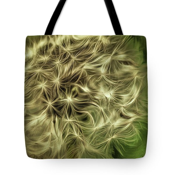 Tote Bag featuring the mixed media Wishies by Trish Tritz
