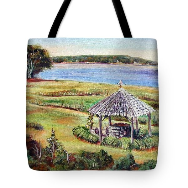 Tote Bag featuring the painting Wishing Well by Patricia Piffath