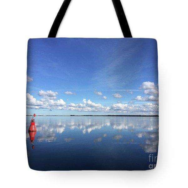 Wismar Bay In Fall Tote Bag