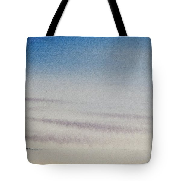 Wisps Of Clouds At Sunset Over A Calm Bay Tote Bag
