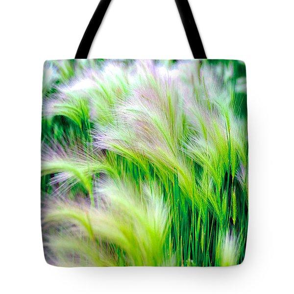 Wispy Green Tote Bag