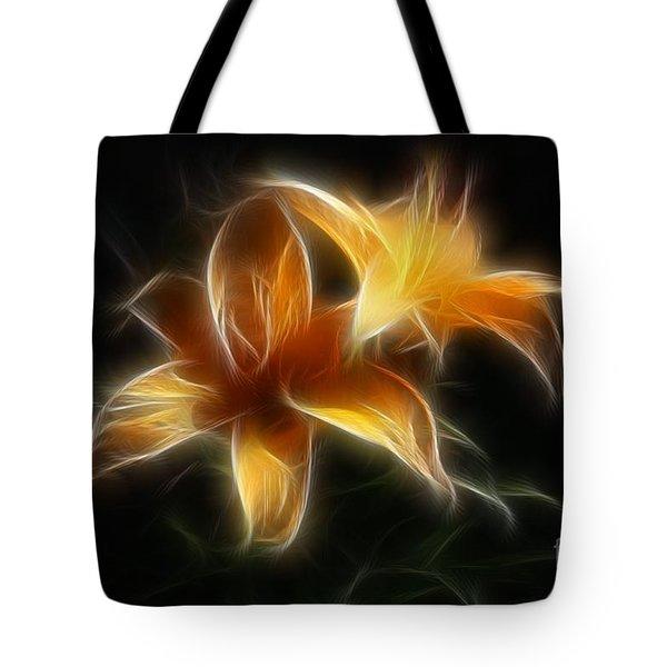 Wispy Lilies Tote Bag by Teresa Zieba