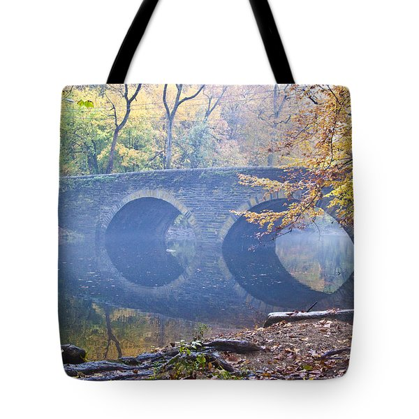 Tote Bag featuring the photograph Wissahickon Creek At Bells Mill Rd. by Bill Cannon