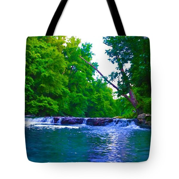 Wissahickon Waterfall Tote Bag by Bill Cannon