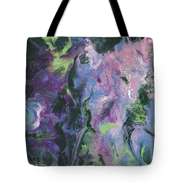 Tote Bag featuring the painting Wisteria Abstract by Jamie Frier