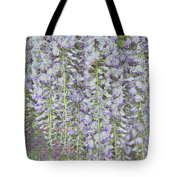 Tote Bag featuring the photograph Wisteria Before The Hail by Nareeta Martin