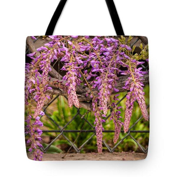 Wisteria Blooming Tote Bag