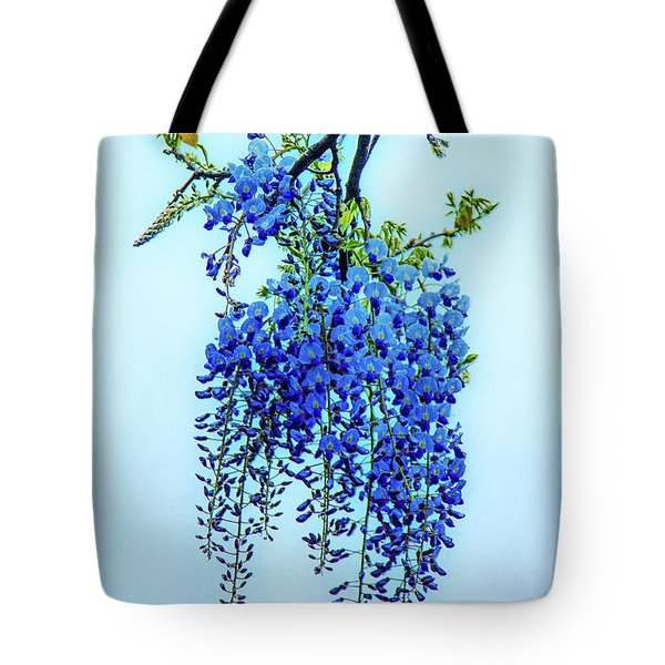 Tote Bag featuring the photograph Wisteria by Chris Lord