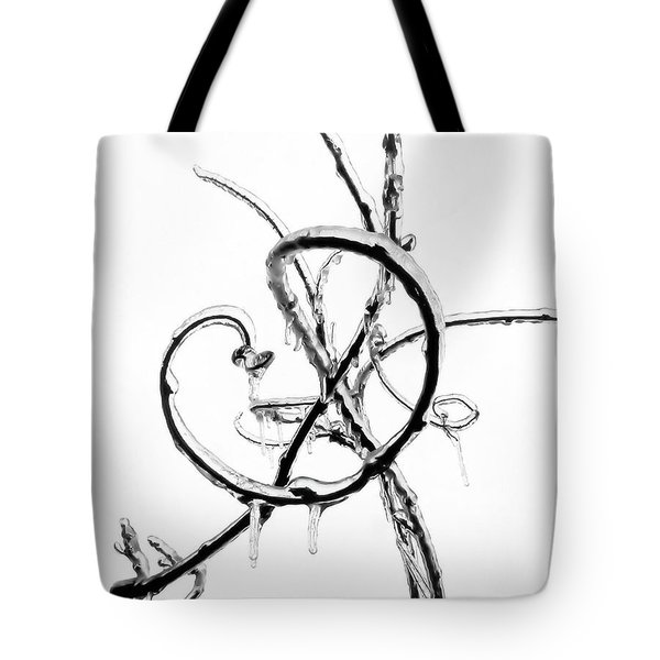 Wisteria Ice Tote Bag by Steve Rudolph