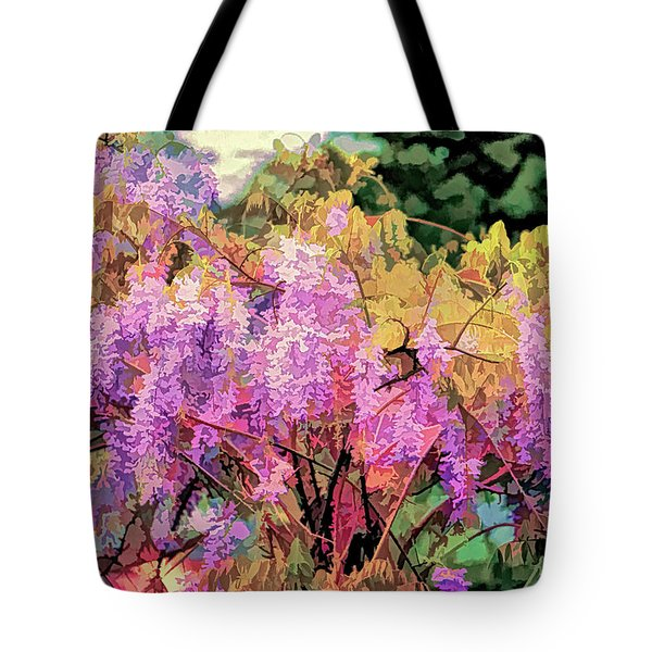 Wisteria In The Spring Tote Bag