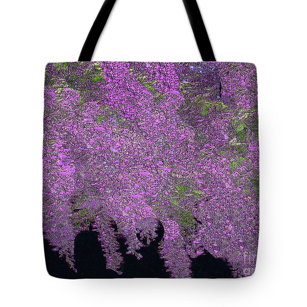 Tote Bag featuring the photograph Wisteria by Merton Allen