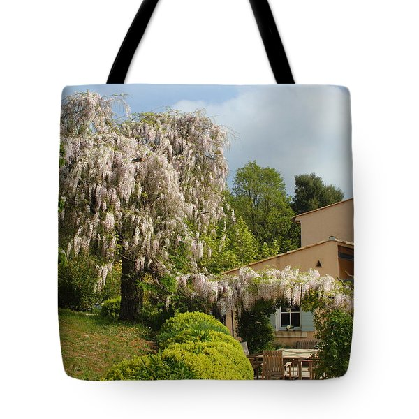 Tote Bag featuring the photograph Wisteria by Richard Patmore