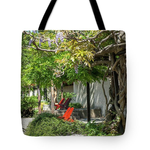 Tote Bag featuring the photograph Wisteria Shadow. Wisteria Shadow. Botanical Garden Mendelu by Jenny Rainbow