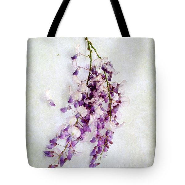 Wisteria Still Life Tote Bag by Louise Kumpf