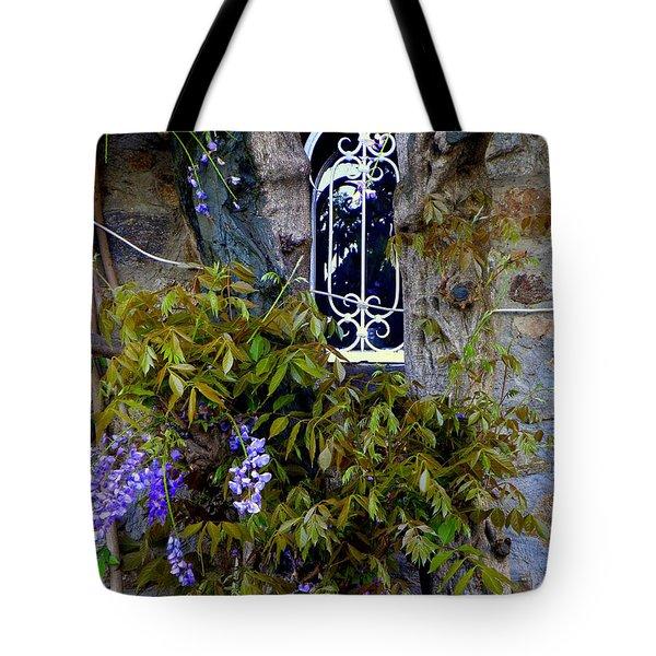 Wisteria Window Tote Bag by Lainie Wrightson