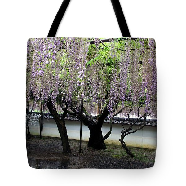 Tote Bag featuring the photograph Wisteria by Yumi Johnson