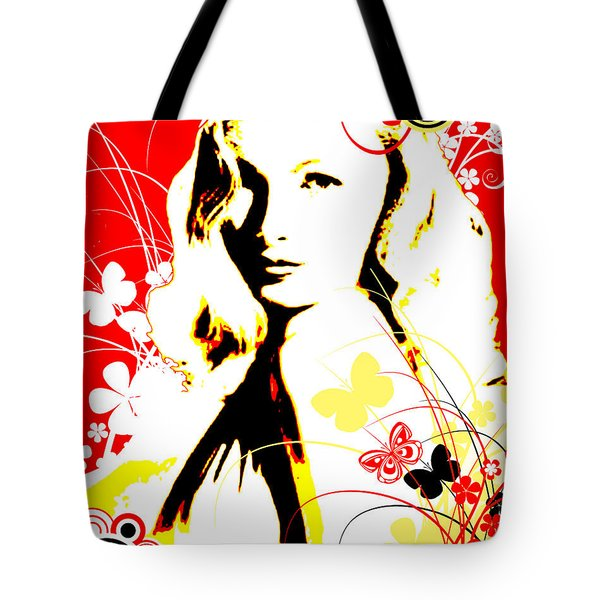 Wistful Flutter Tote Bag by Chris Andruskiewicz