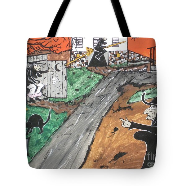 Witches Outhouse Tote Bag