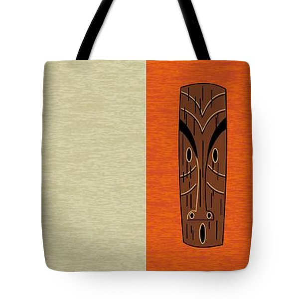 Tote Bag featuring the digital art Witco Tikis 1 by Donna Mibus