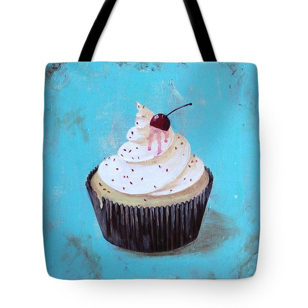 With A Cherry On Top Tote Bag by T Fry-Green