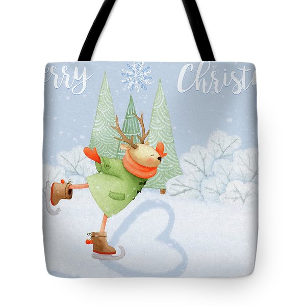 With All My Heart - Christmas Art Tote Bag