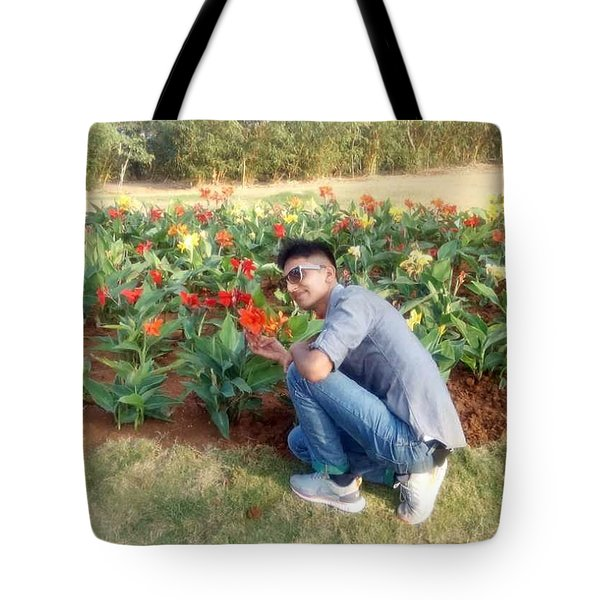 With D Lap Of Nature Tote Bag by Madhusudan Bishnoi