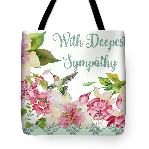 With Deepest Sympathy Greeting Card Tote Bag