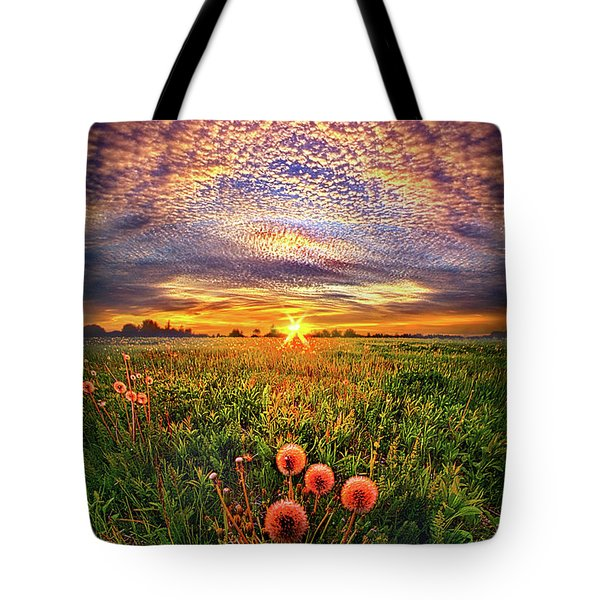 Tote Bag featuring the photograph With Gratitude by Phil Koch
