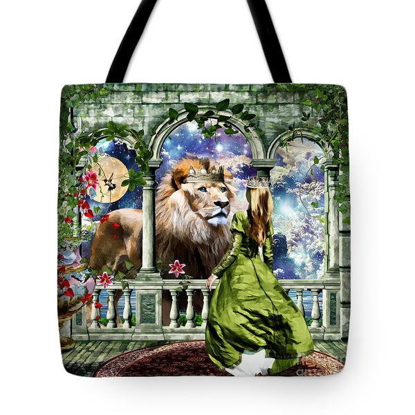 Tote Bag featuring the digital art With Him I Speak Face To Face by Dolores Develde