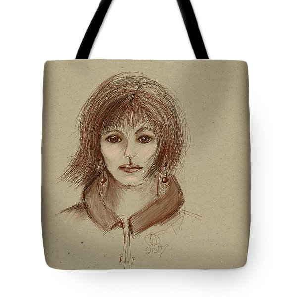 With Short Hair Tote Bag by Angela A Stanton