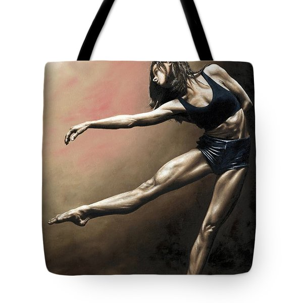 With Strength And Grace Tote Bag by Richard Young