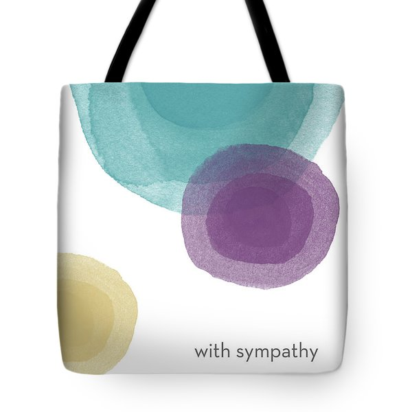 With Sympathy Circles- Art By Linda Woods Tote Bag